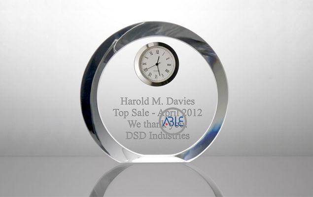 crystal clear custom acrylic gift