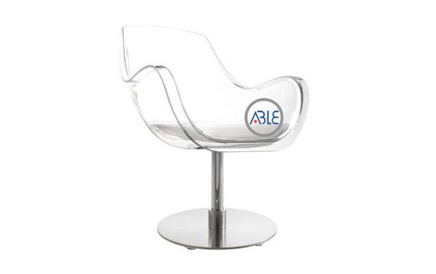clear acrylic office chair