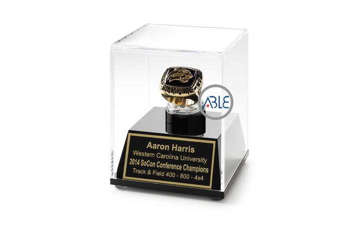 Customized Acrylic Trophy Case Custom Acrylic Ring Case