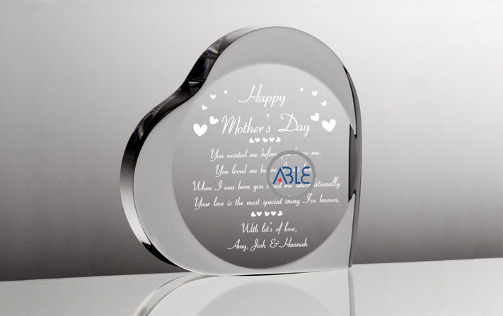 crystal clear custom acrylic gift
