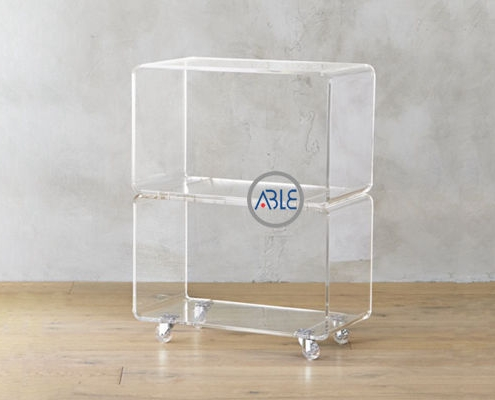 acrylic table with wheels