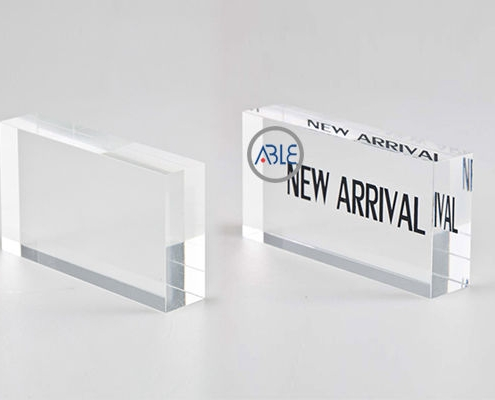 crystal clear acrylic block