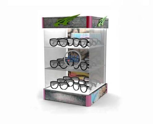 Acrylic Sunglasses Display Box Three Sides Show