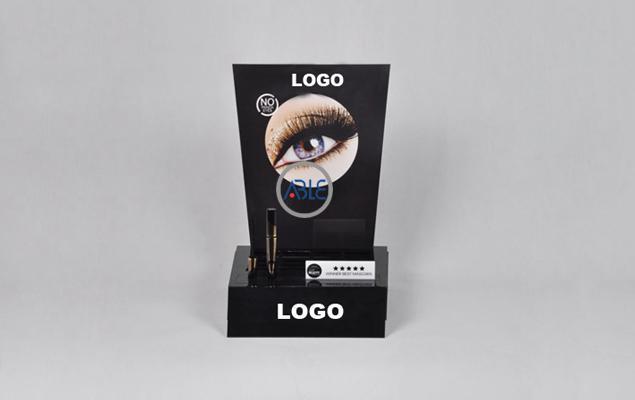 Counter Acrylic Eyelash Enhancer Cosmetics Display Shelf