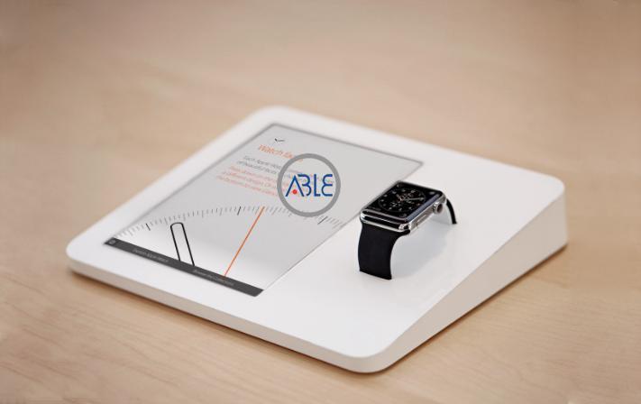 acrylic watch display counter