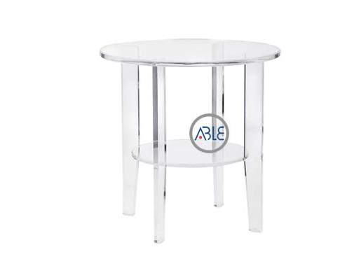 Four Legs Custom Round Acrylic Stool