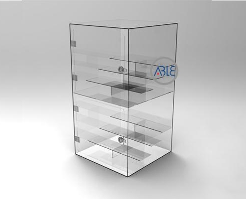 Cutsom countertop acrylic display cabinet