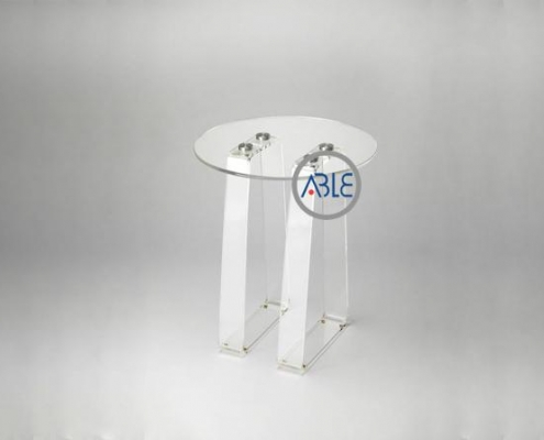 Crystal Clear Assemble Structure Customized Acrylic Table