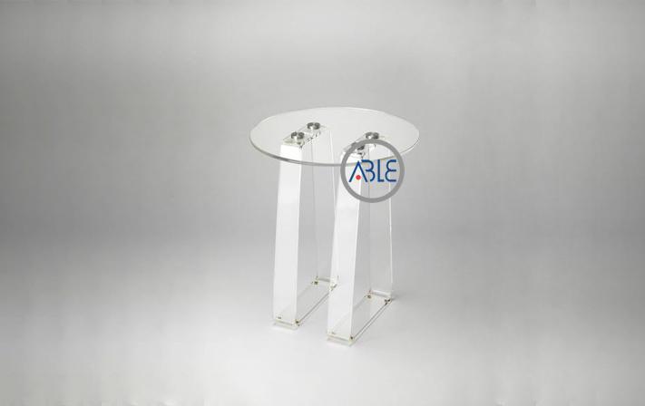 Crystal clear acrylic table assemble plexiglass coffee table