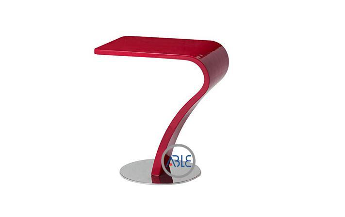 custom red acrylic bar stool