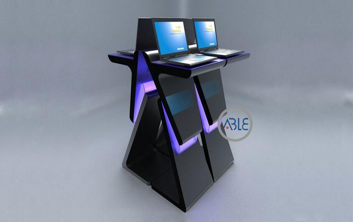 custom acrylic laptop display stand