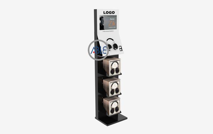 Acrylic earphone display floor standing display rack