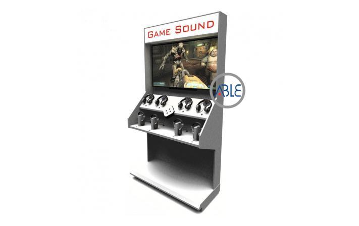 Acrylic earphone display rack
