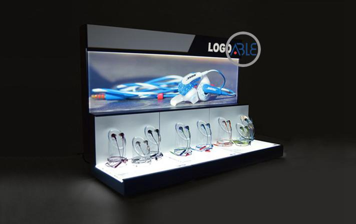 acrylic earphone display rack