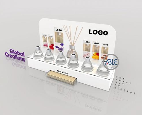 Makeup retail display stand