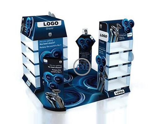 Acrylic shaver display rack custom acrylic display