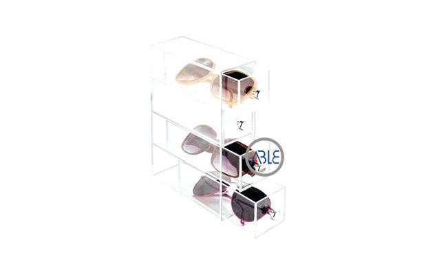 sunglasses display case crystal clear