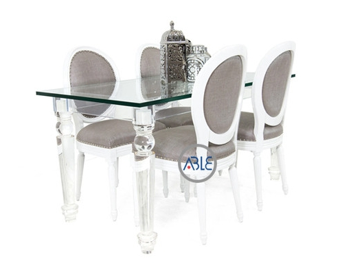 clear acrylic table