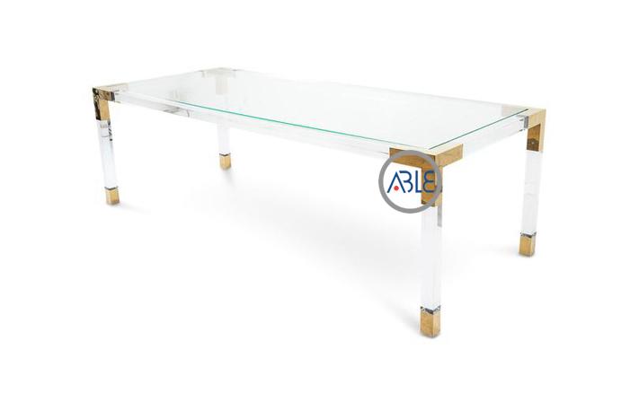 0348 clear acrylic desk